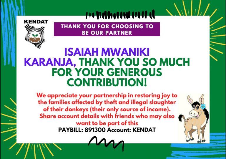 Isaiah Mwaniki Thank You